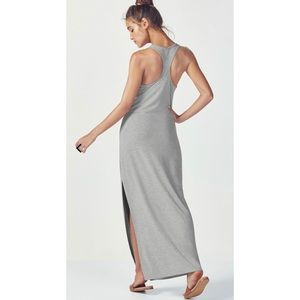 Fabletics Iliana Maxi Dress Racerback Tank Grey